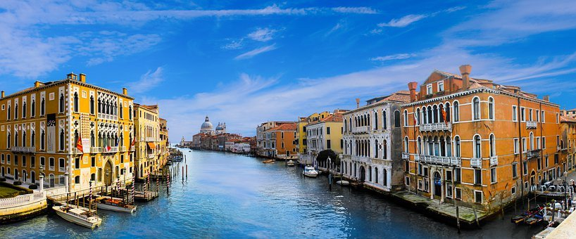 Venice, Architecture, Channel, Water, City, Building