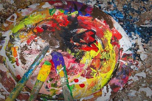 Art, Color, Color Palette, Brush, Painting