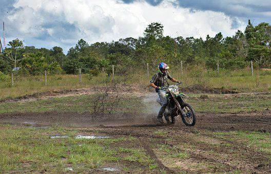 Drift, Motocross, Dirt Bike, Soil, Outdoors
