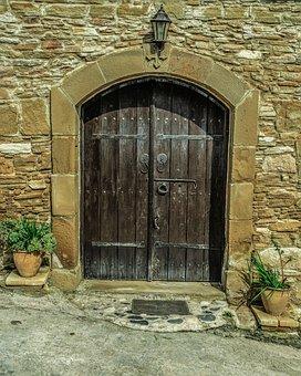 Door, Doorway, Entrance, Architecture, House, Wall