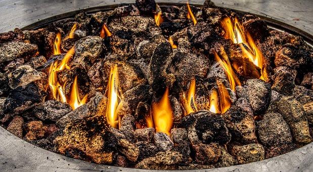 Fire, Lava, Lava Stone, Gas, Heating, Heat