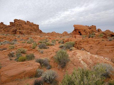 Desert, Rock, Sandstone, Landscape, Dry, Valley Of Fire