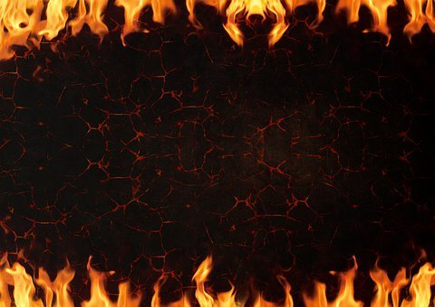 Fire, Lava, Background, Burns, Flame, Rock, Metal