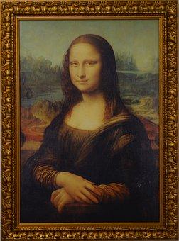Copy, Mona Lisa, Painting, Portrait, Picture Frame