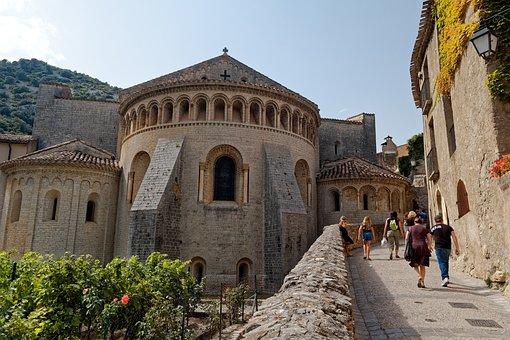 St -guilhem, Le-desert, Franlkreich, Romanesque
