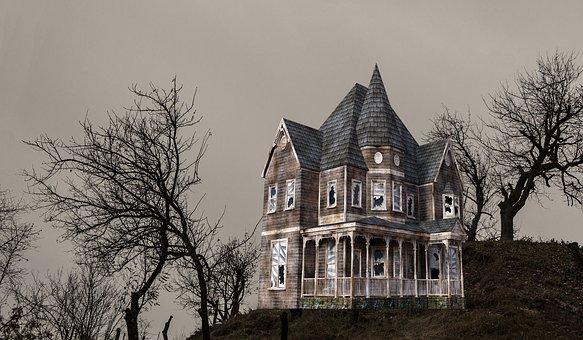 Halloween, Home, Farm, Wood, Tree, Fear, Fright, Scary