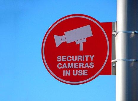 Security Camera Sign, Sign, Camera, Security, Symbol