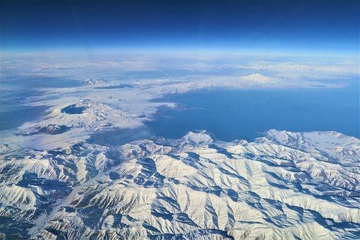 Snow, Mountain, Nature, Panoramic, Sky, Dam, Lake