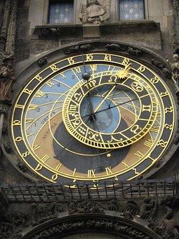 Time, Clock, Sundial, Dial, Astrology, Prague, Czech
