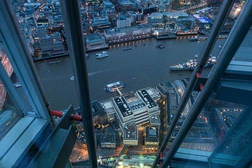 Travel, Traffic, City, River Thames, Lights, Night