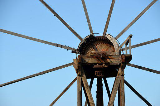 Sky, Wheel, Mill, Windmill, Pinwheel, Wind Energy