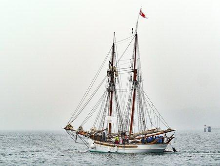 Sailing Vessel, Tall Ship, Windjammer, Kieler Firth