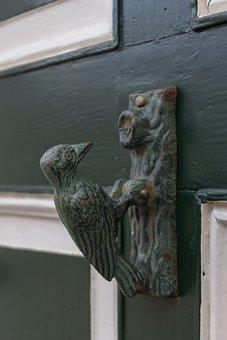 Architecture, Window, Old, Building, Doorknocker, Door