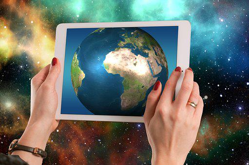 Africa, Tablet, Universe, Space, Planet, Spherical