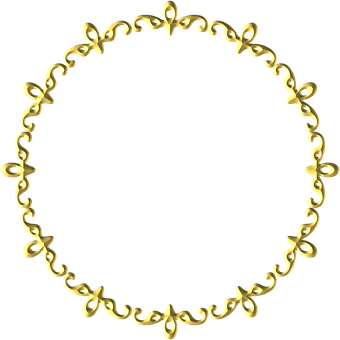 Gold, Frame, Round, Border, Decoration, Decor
