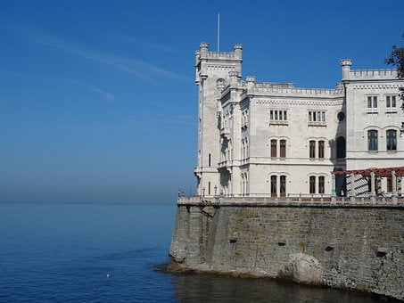 Architecture, Travel, Trieste, Castle, Miramare, Italy