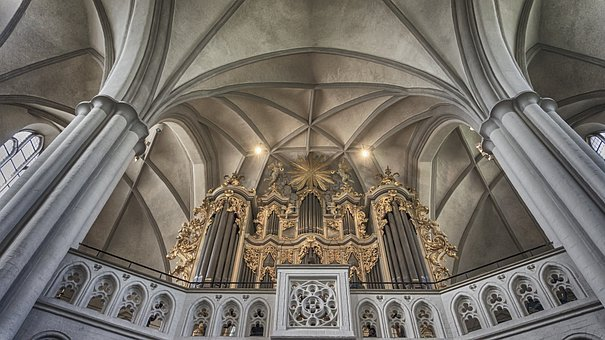 Church, Architecture, Cathedral, Religion, Organ