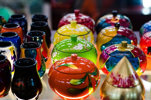 Lacquer Ware, Handicrafts, Colorful, Lacquer, Craft