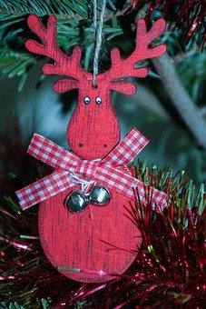 Reindeer, Christmas, Brad, Toy, Holidays, Decoration