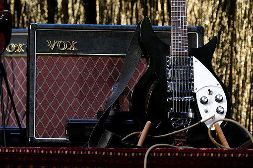 Guitar, Electric Guitar, Amplifier, Music, Instrument