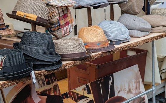 Market, Music, Sales Stand, Hat, Hats, Business, Sale