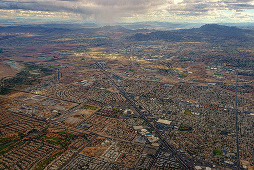 Panorama, Landscape, Travel, In The Air, Las Vegas