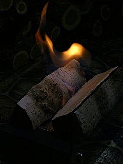 Bio, Fireplace, Flame, Ceramic, Logs, Decor