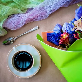 Flower, Background, Color, Lovely, Coffee, Bouquet