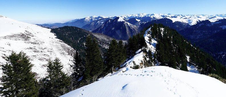 Snow, Mountain, Winter, Panoramic, Nature, Nistos