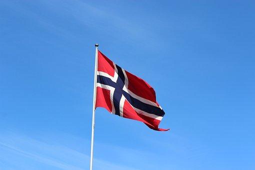 Flag, Wind, Patriotism, Freedom, Sky, Norway, Bergen