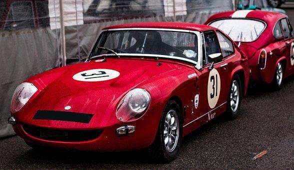 Lenham Le Mans, Lenhams, Le Mans, Racecar, Coupe, Red