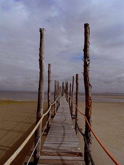 Waters, Sea, Beach, Sky, Nature, Sand, Wood, Summer