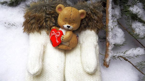 Winter, Cold, Snow, Nature, The Mascot, Teddy Bear
