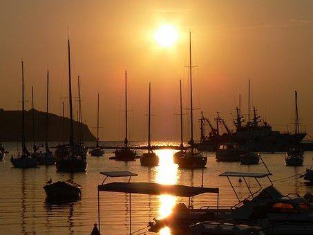 Trieste, Golf, Mediterranean, Port, Sunset, Waters, Sky