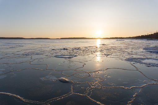 Water Bodies, Sunset, Nature, Sea, Coast, Ice, Groove