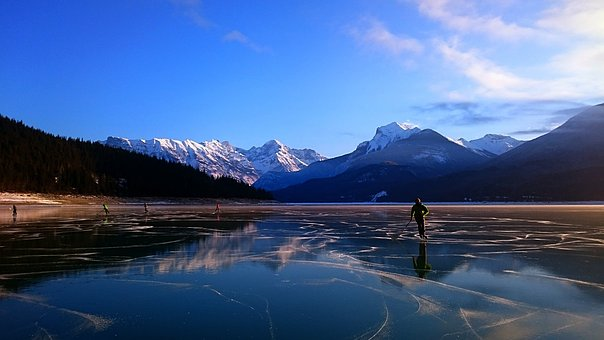 Mountain, Snow, Nature, Water, Lake, Outdoors, Scenic