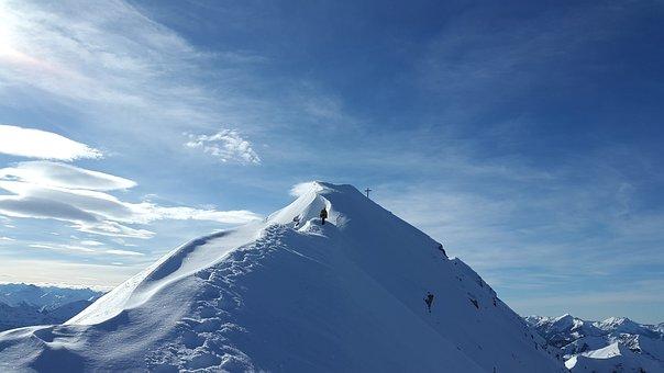 Summit, Alpine, Vulture Heads, Ceedings, Winter