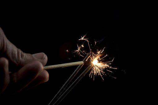 Calls, Celebration, Darkness, Sparkler, Smoke, Spark