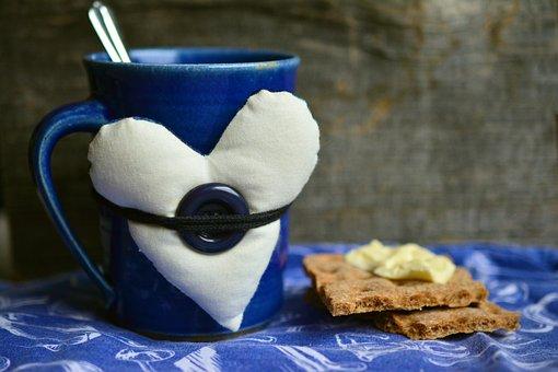 Cup, Heart, Coffee Cup, Ceramic, Coffee Break, Love