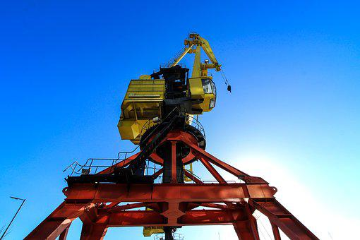 Sky, Industry, Technology, Power, Crane, Spring, Colors