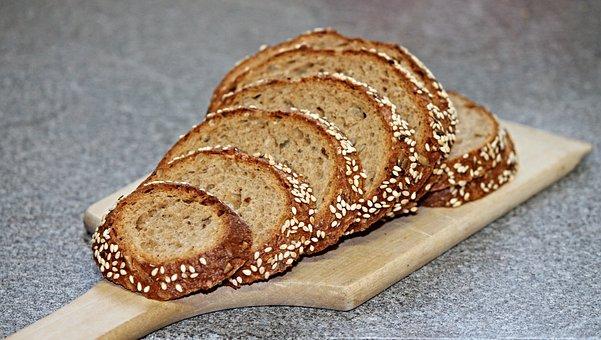 Grain Bread, Bread, Rye Bread, Cut, Crispy, Baked Goods