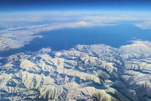 Dam, Lake, Mountain, Snow, Panoramic, Winter Nature