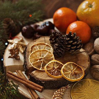 Food, Fruit, Christmas, Wood, Table, Drink, Bark