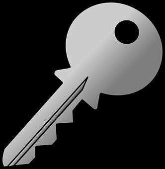 Key, Gray, Grey, Yale, Door