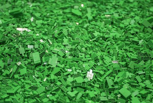 Lego, Bricks, Green, Toy, Build, Cube, Pattern, Shape
