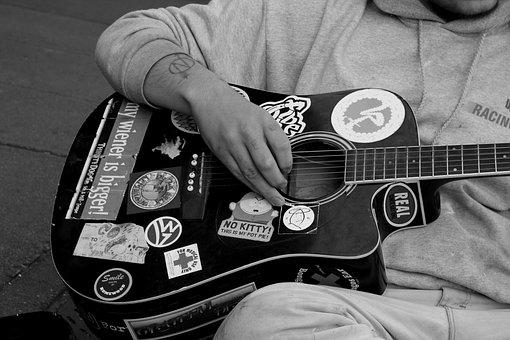 Guitar, Guitarist, Street Musician, Musician, Strum