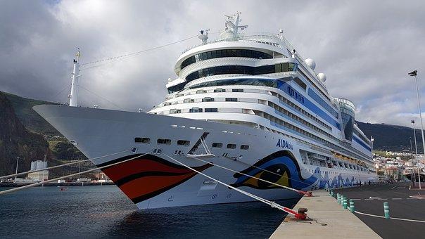 Cruise Ship, Cruise, Ship, Aida, Aidblu, Holiday