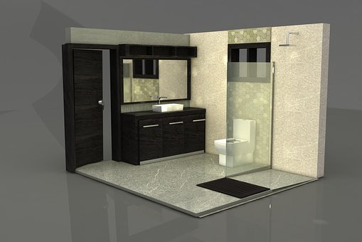 Bathroom, Contemporary, In, Room, Inside, Window