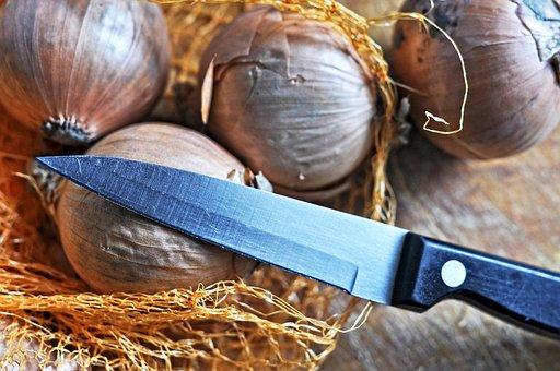 Onion, Vegetable, Food, Nutrition, Knife, Cutting