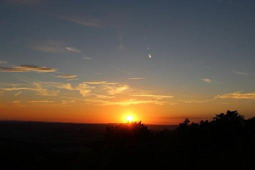 Sunset, Sun, Dusk, Nature, Sunset Hike, Hohenstaufen
